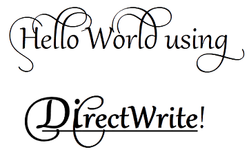Tutorial Getting Started with DirectWrite - Windows