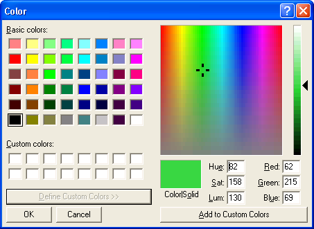 Color Dialog Box Windows Applications Microsoft Docs