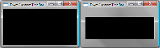Custom Window Frame Using DWM - Windows applications