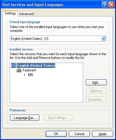 Installing and Using Input Method Editors - Windows applications