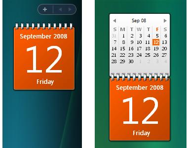calendar widget for windows 10 desktop