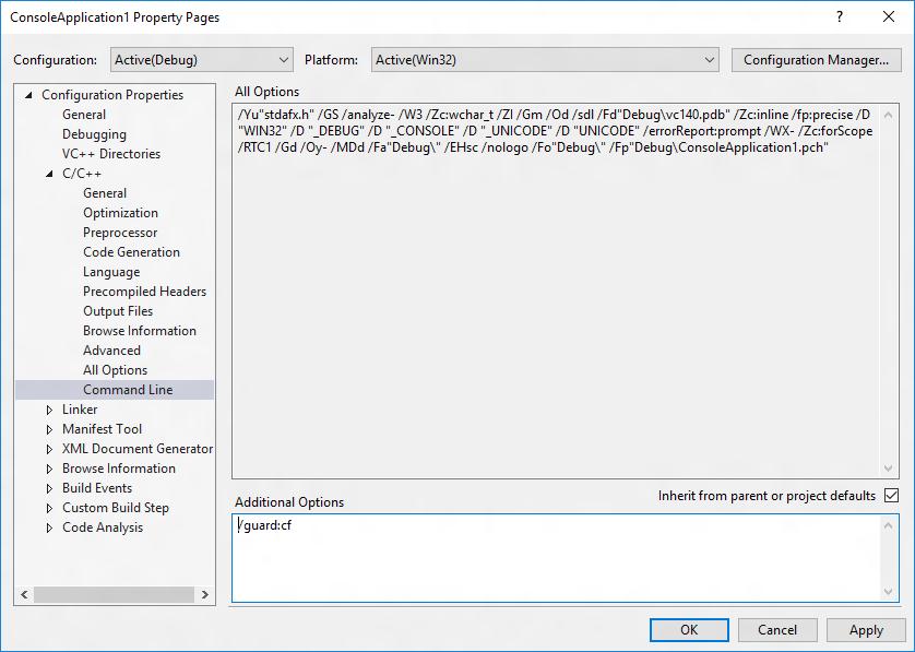 Control Flow Guard - Windows applications   Microsoft Docs