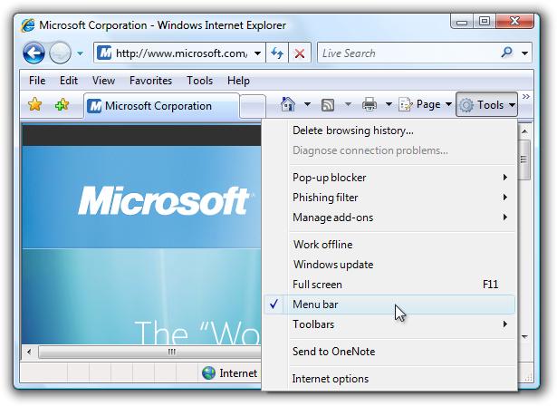 Menus Microsoft Docs