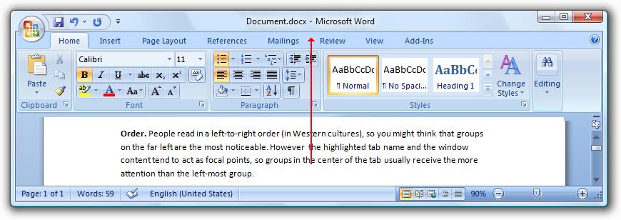 Ribbons Microsoft Docs