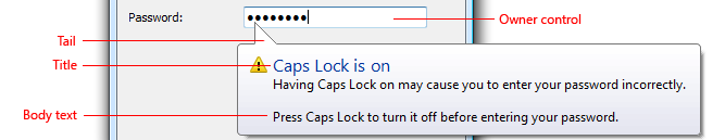 Screen Sof A Balloon Indicating Caps Lock Is On