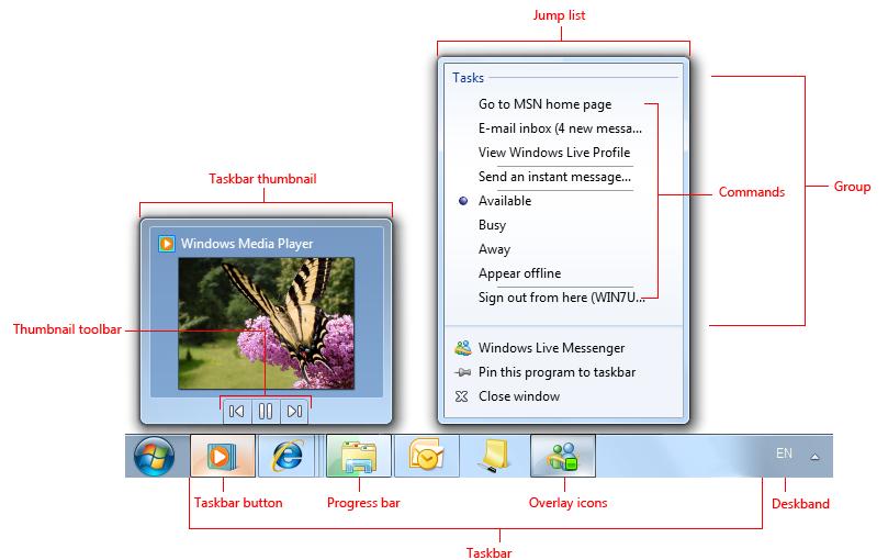 Taskbar - Windows applications | Microsoft Docs