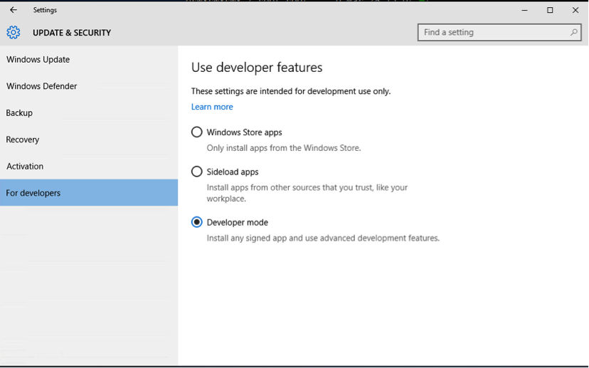 Install or remove on Windows 10 Anniversary Update or Creators