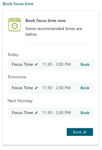 how  to use microsoft teams effectively: set focus time