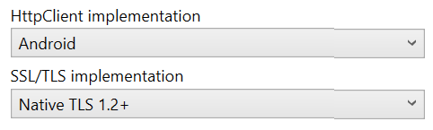 HttpClient Stack and SSL/TLS Implementation Selector for