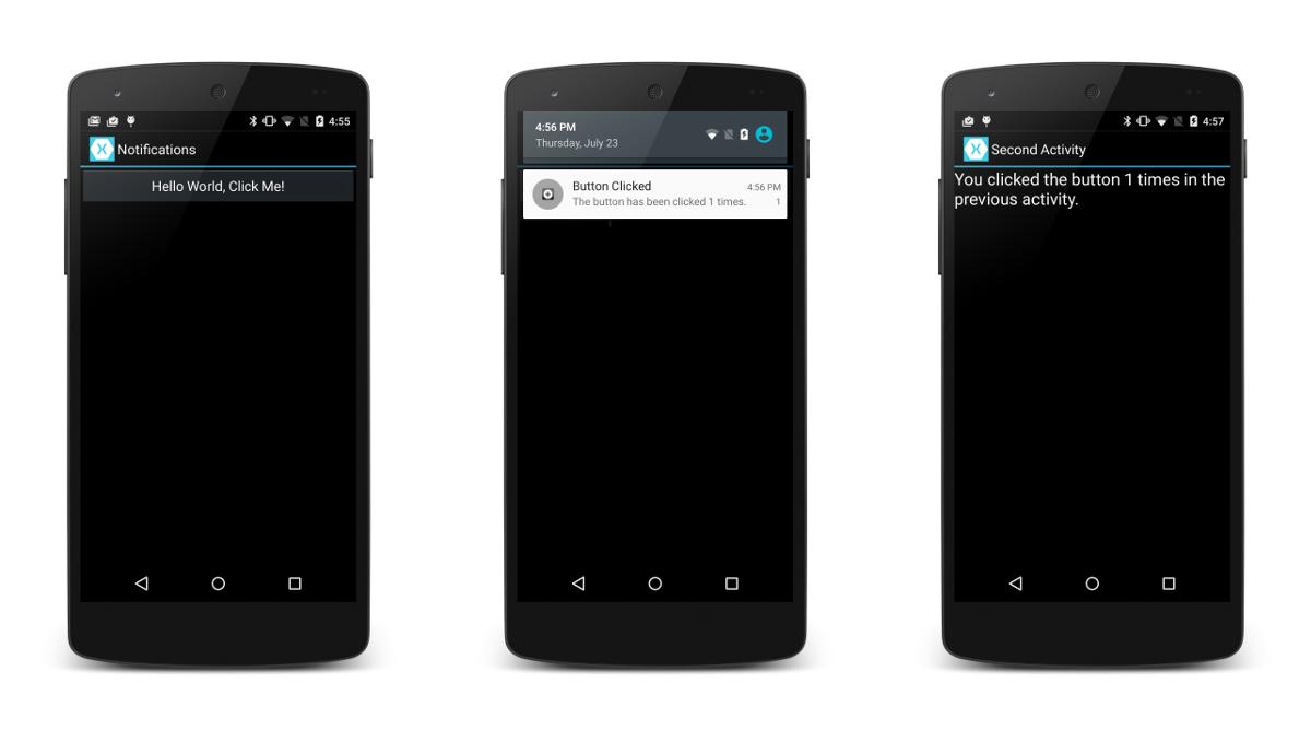 Walkthrough - Using Local Notifications in Xamarin Android