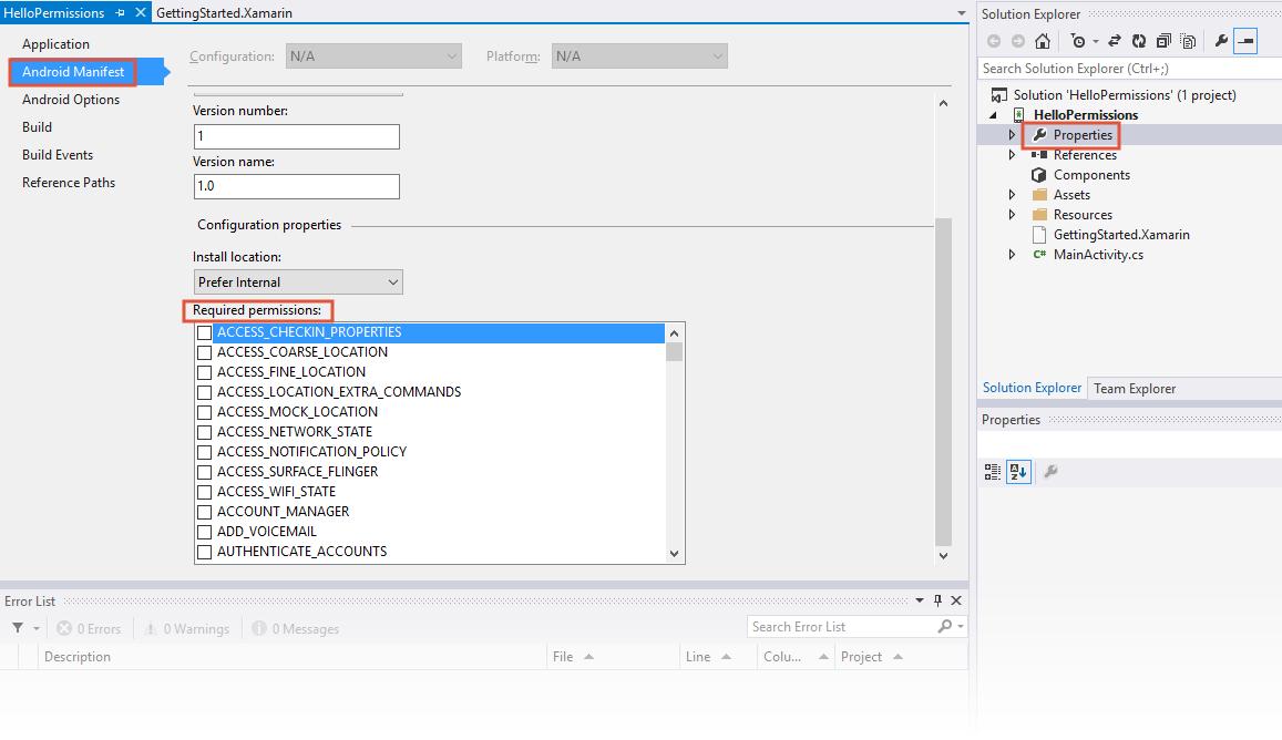 Permissions In Xamarin Android - Xamarin | Microsoft Docs