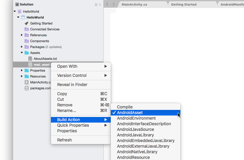 Using Android Assets - Xamarin | Microsoft Docs