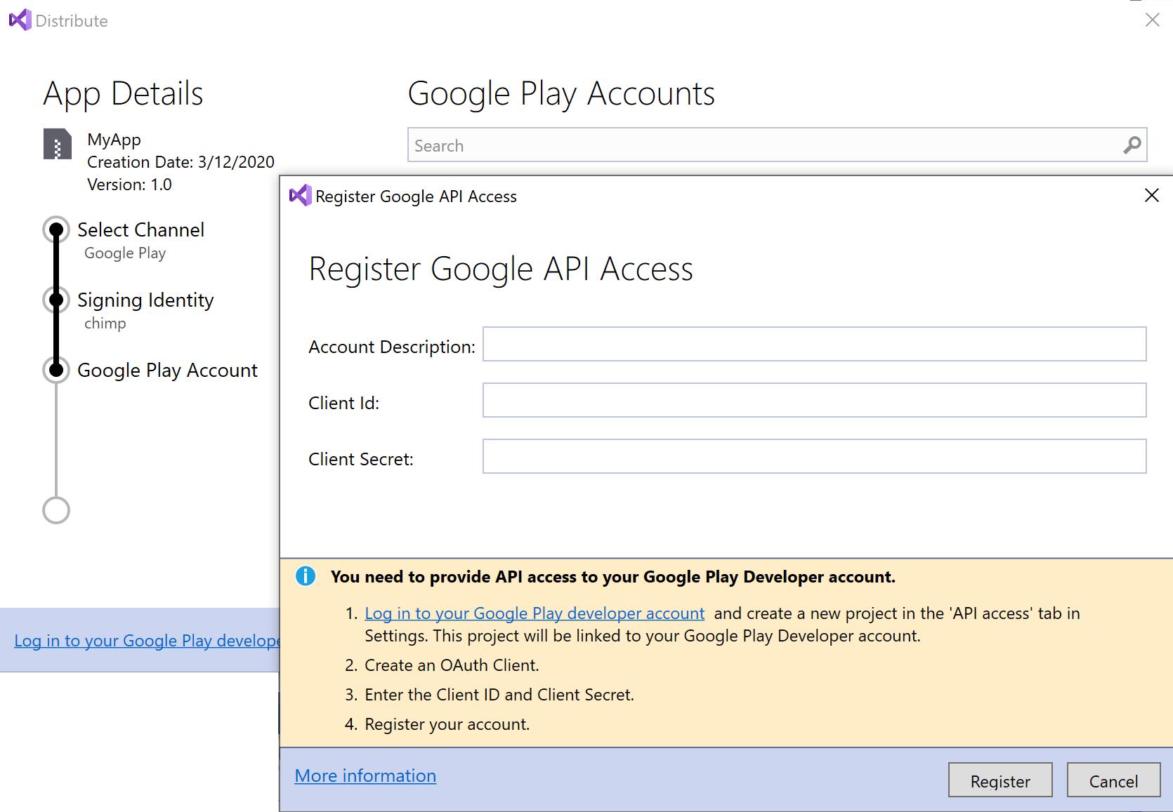 Publishing to Google Play - Xamarin | Microsoft Docs