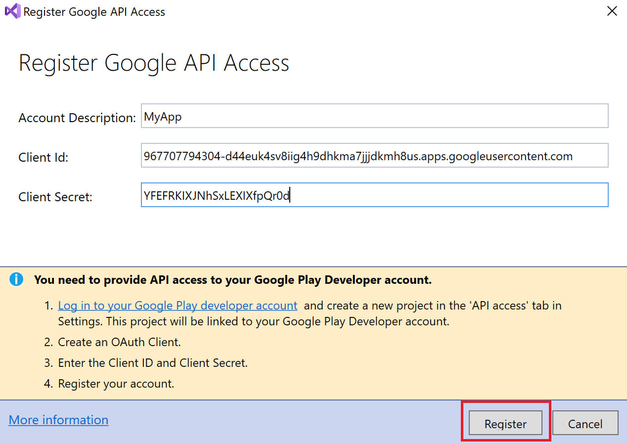 Publishing to Google Play - Xamarin | Microsoft Docs