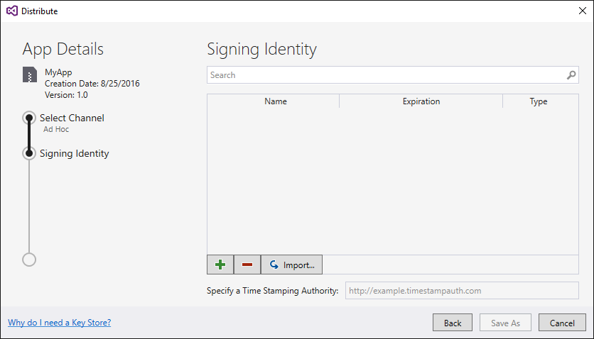 Signing the Android Application Package - Xamarin
