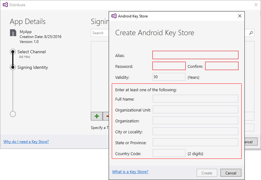Signing The Android Application Package Xamarin Microsoft Docs