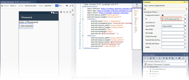 Hello, Android: Quickstart - Xamarin   Microsoft Docs