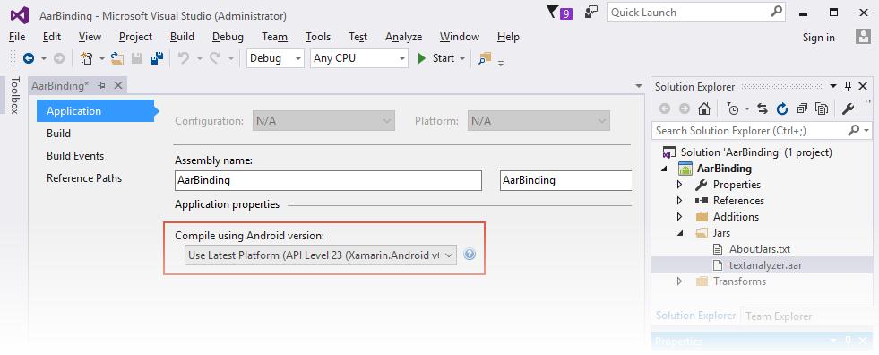 Binding an  AAR - Xamarin | Microsoft Docs