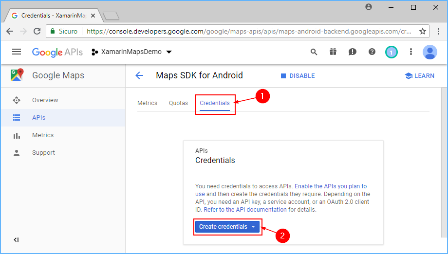 Obtaining a Google Maps API Key - Xamarin | Microsoft Docs