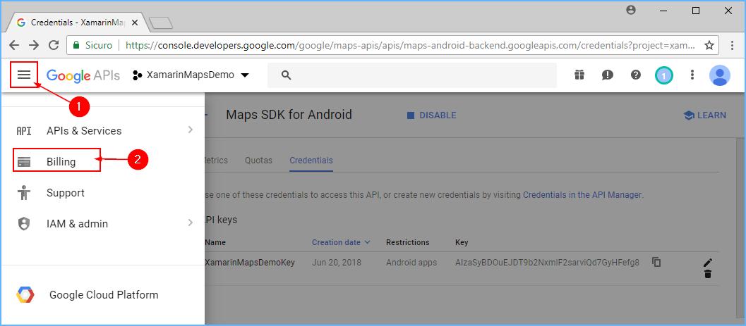 Obtaining a Google Maps API Key - Xamarin | Microsoft Docs