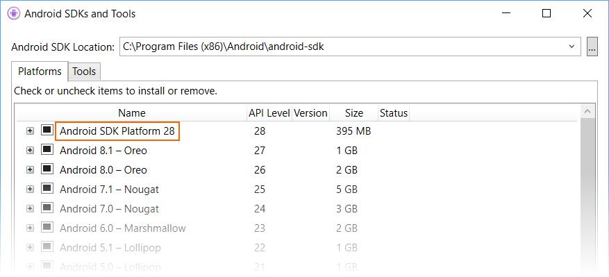 Android 9 Pie - Xamarin | Microsoft Docs