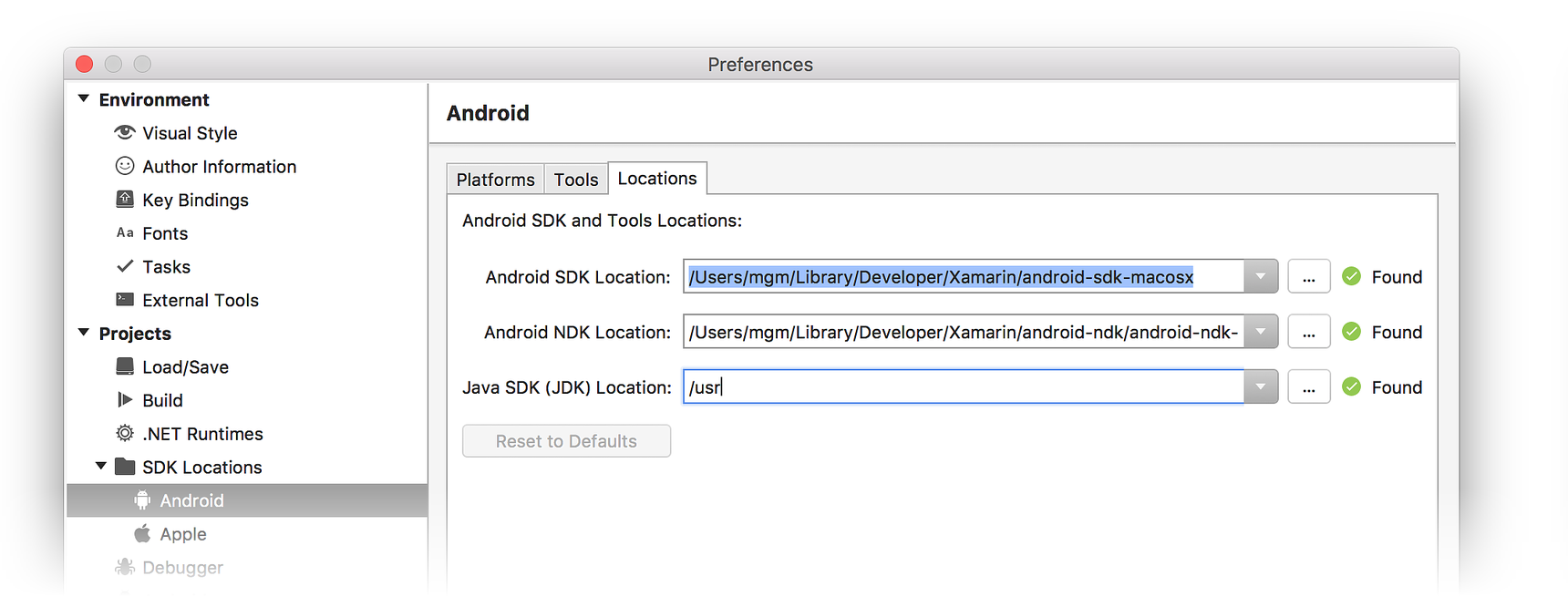 the selected directory is not a valid home for android sdk