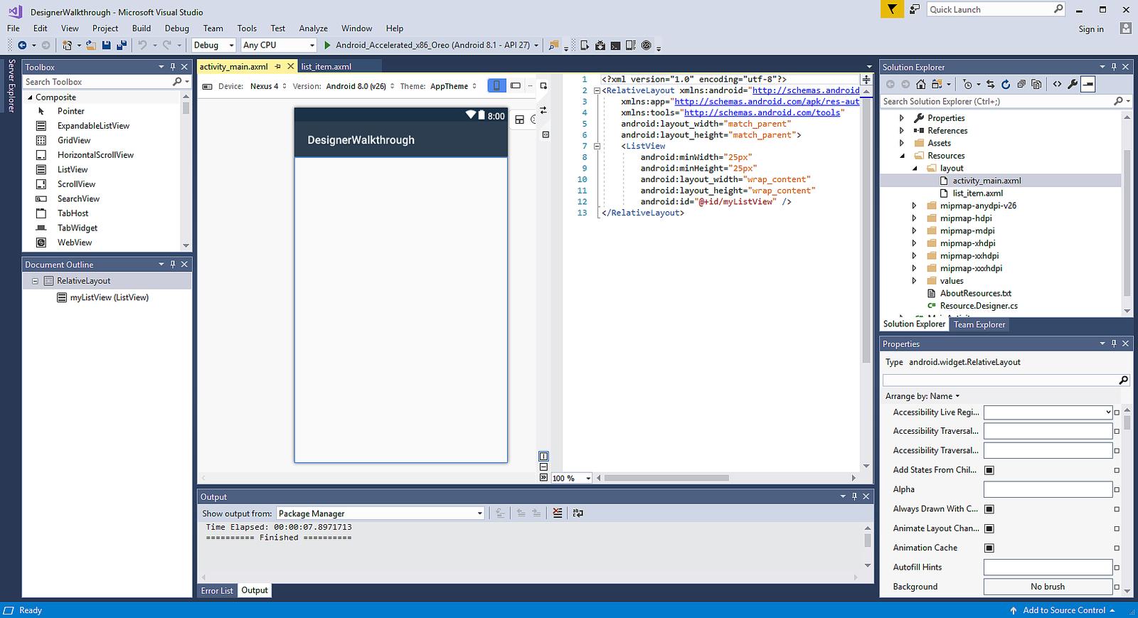 Xamarin Android Designer Basics - Xamarin | Microsoft Docs