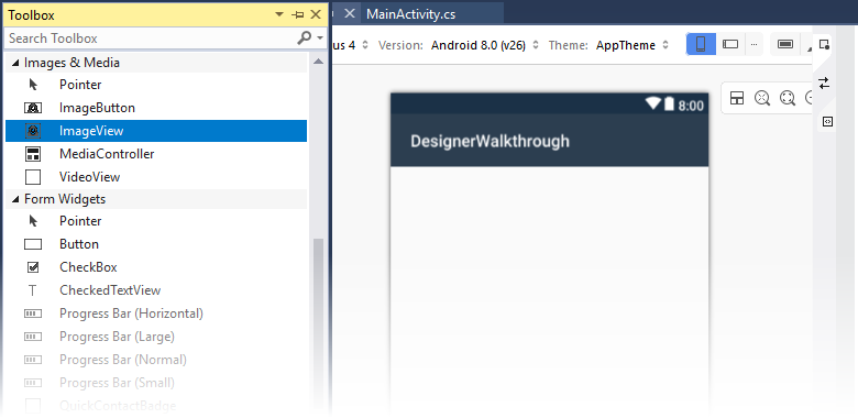 Using the Xamarin Android Designer - Xamarin | Microsoft Docs