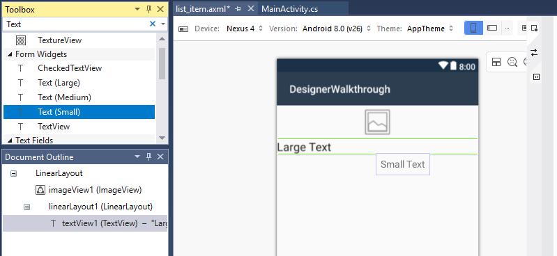Using the Xamarin Android Designer - Xamarin   Microsoft Docs