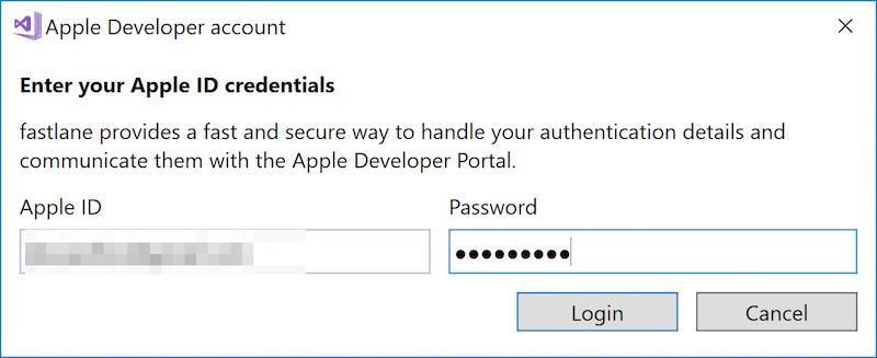Apple Account Management - Xamarin | Microsoft Docs