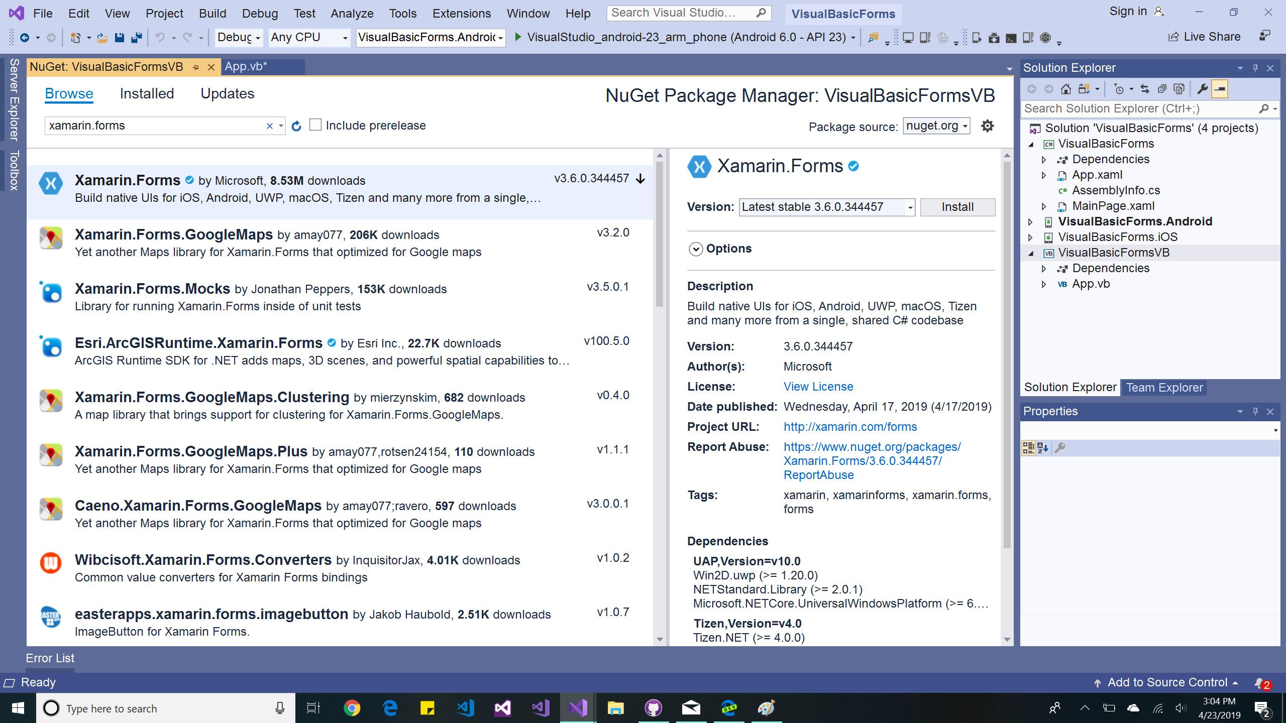 Xamarin Forms using Visual Basic NET - Xamarin | Microsoft Docs