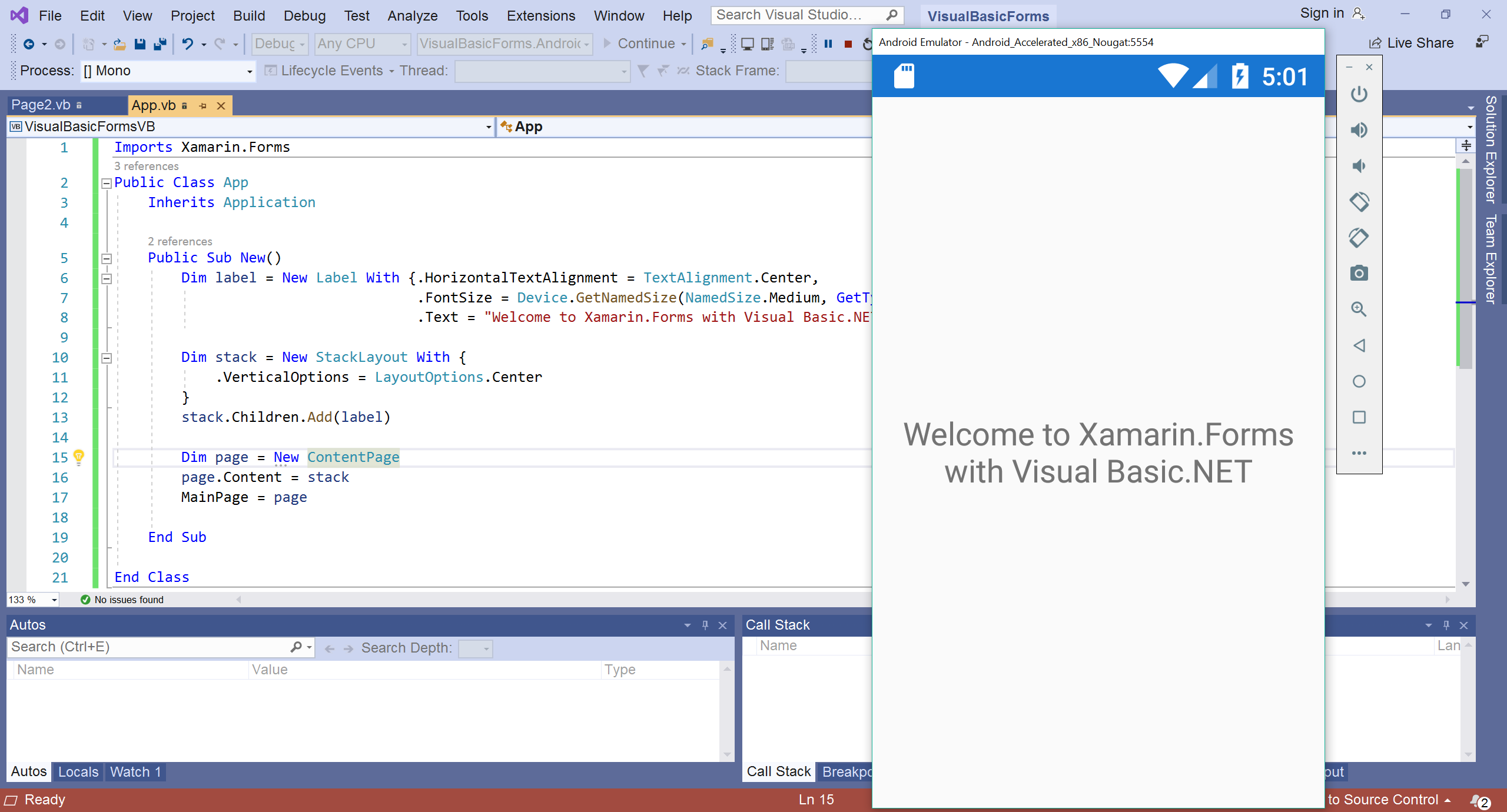 Xamarin Forms using Visual Basic NET - Xamarin | Microsoft Docs