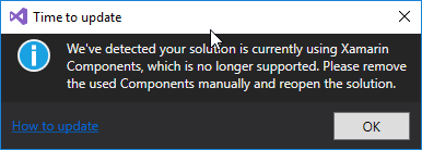 Updating component references to NuGet - Xamarin | Microsoft