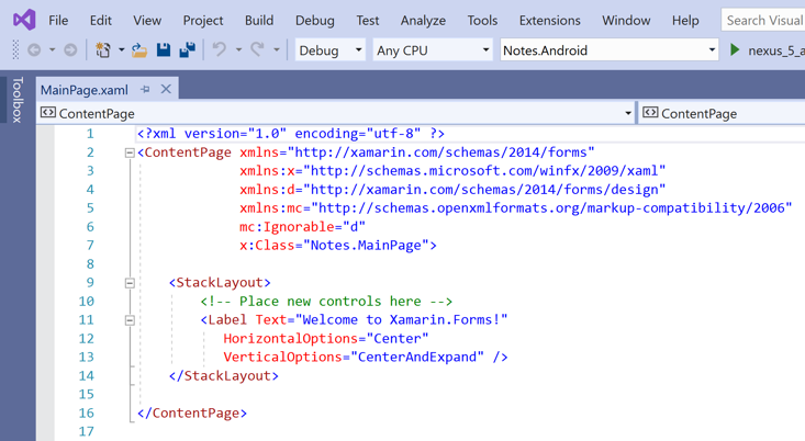 open-mainpage-xaml-2019 Xamarin Application Template on forms chat ui, forms listview, forms project, forms shell project, form tabs,