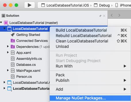Xamarin Forms Local Database Tutorial - Xamarin | Microsoft Docs