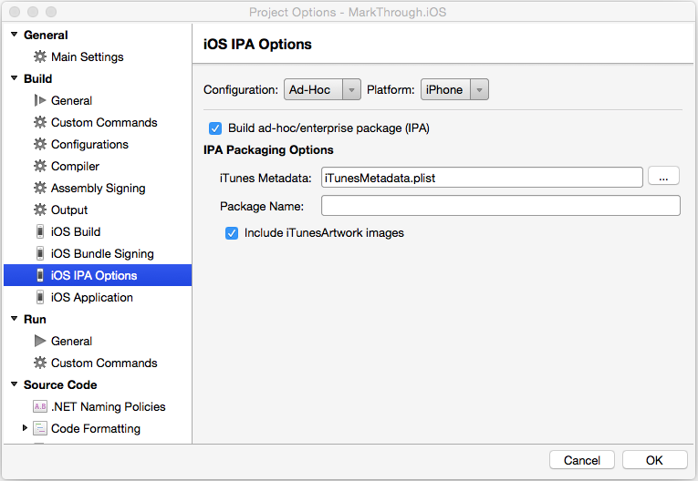 IPA Support in Xamarin iOS - Xamarin | Microsoft Docs