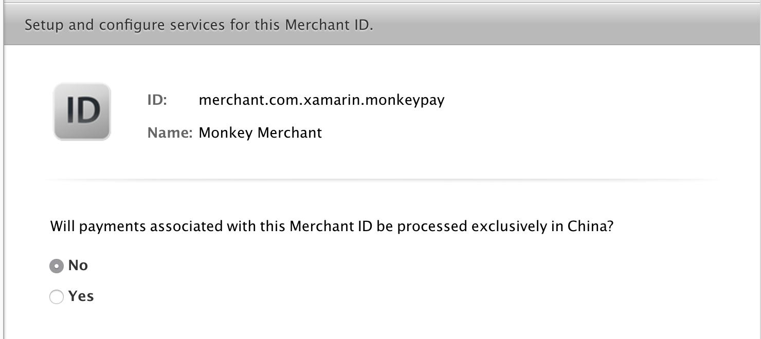 Apple Pay Capabilities in Xamarin iOS - Xamarin   Microsoft Docs