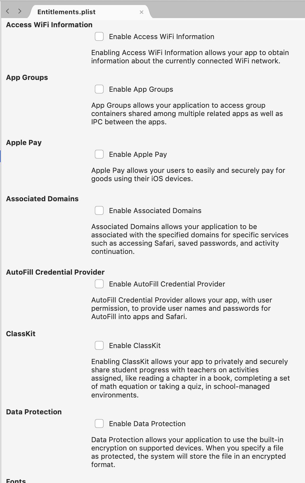 Working with entitlements in Xamarin iOS - Xamarin   Microsoft Docs