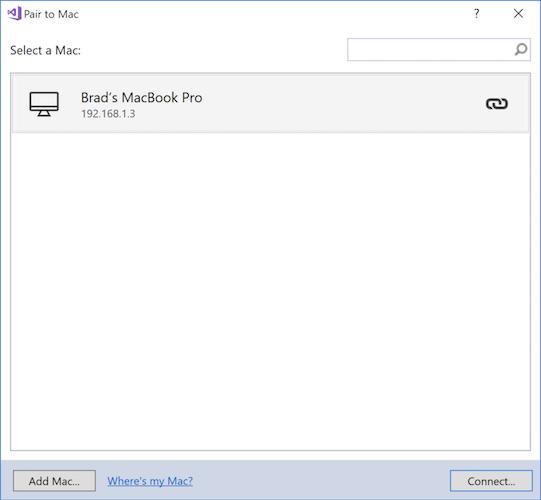 Pair to Mac for Xamarin iOS Development - Xamarin | Microsoft Docs