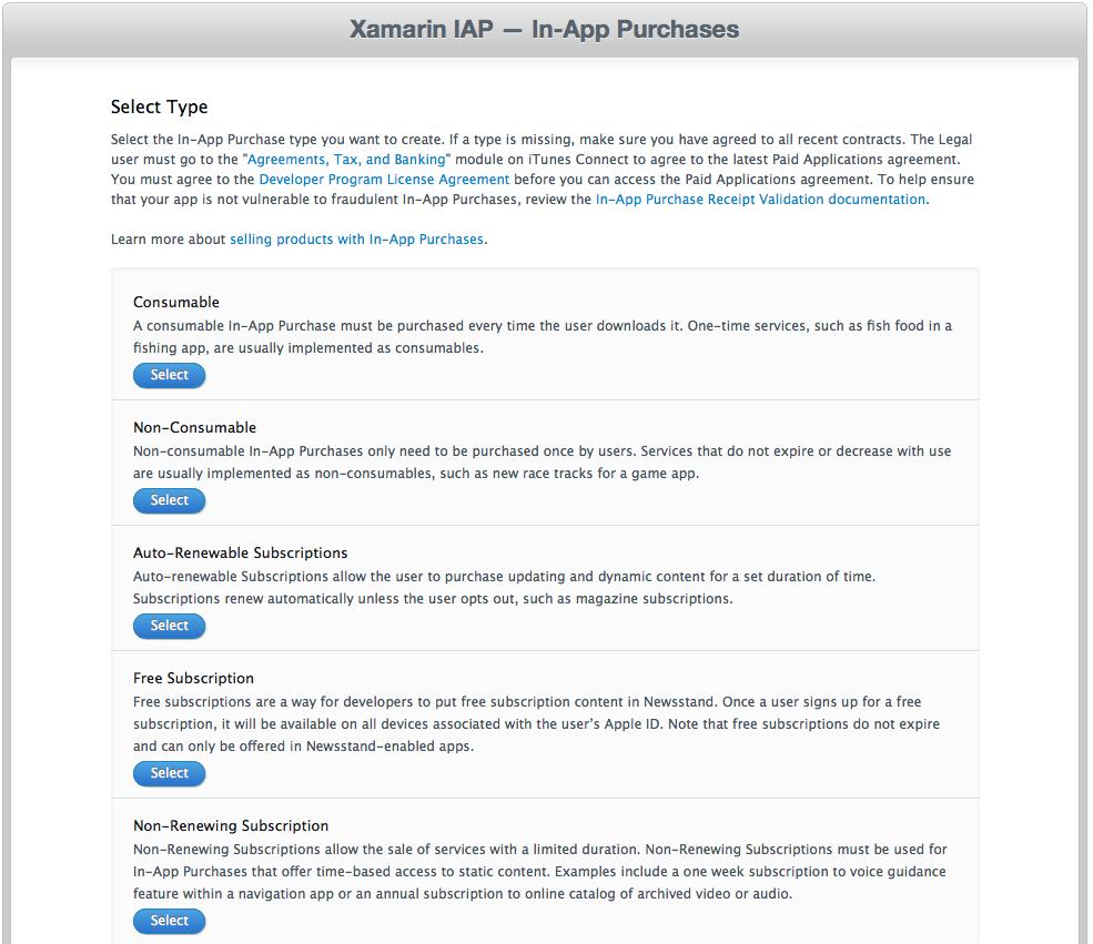 In-App Purchase Basics and Configuration in Xamarin iOS - Xamarin