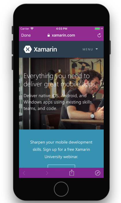 WebKit and Safari changes in iOS 11 - Xamarin   Microsoft Docs