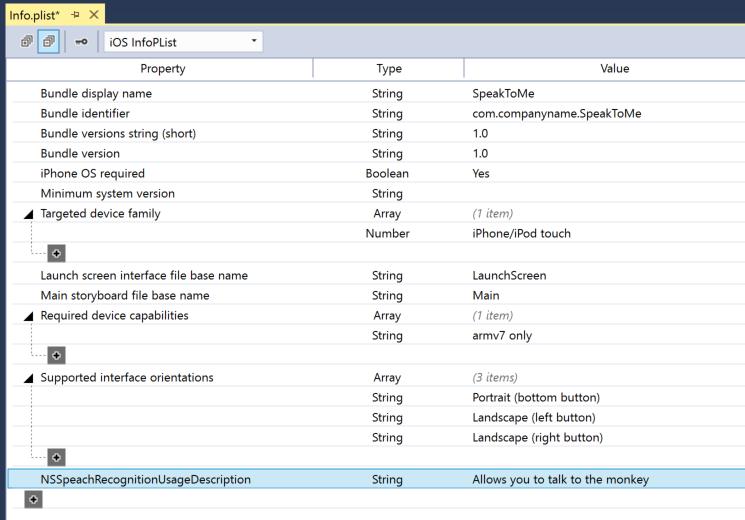 Speech Recognition in Xamarin iOS - Xamarin | Microsoft Docs