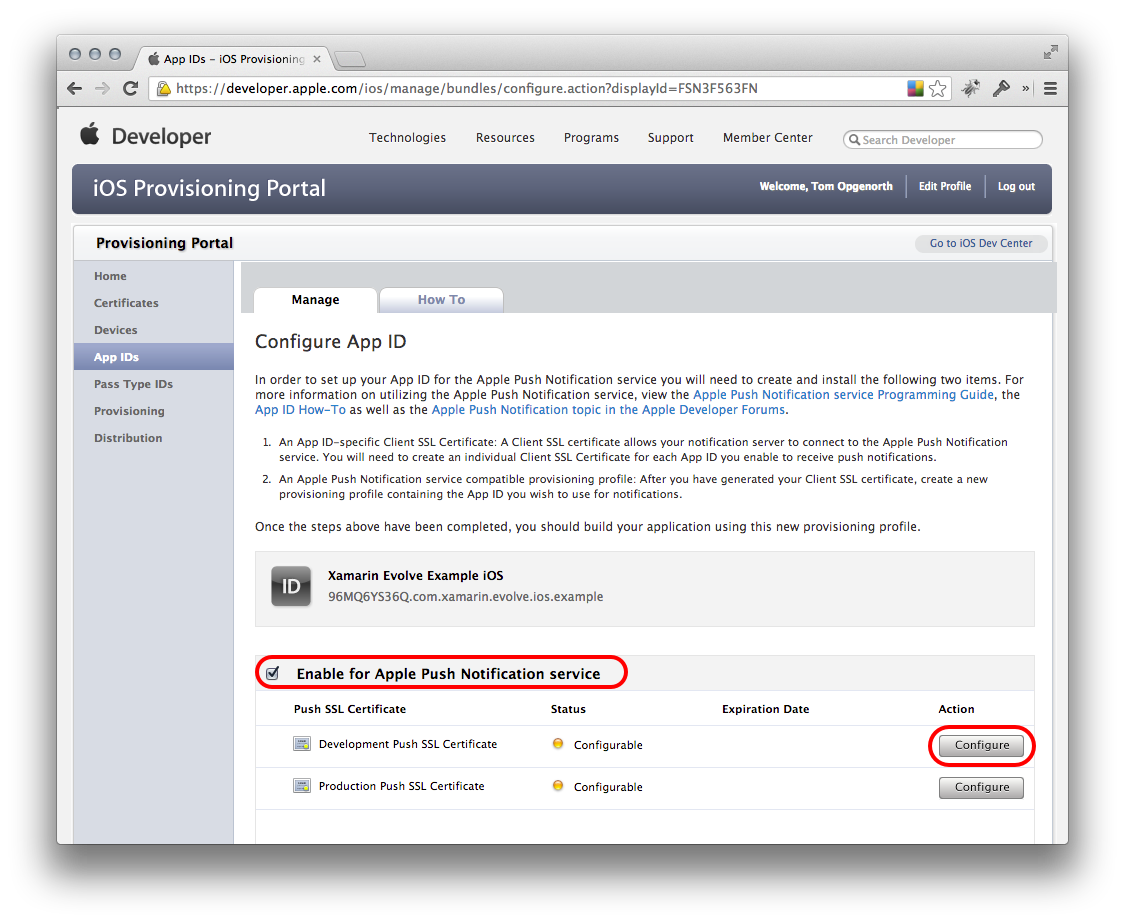 Push Notifications In Ios Xamarin Microsoft Docs