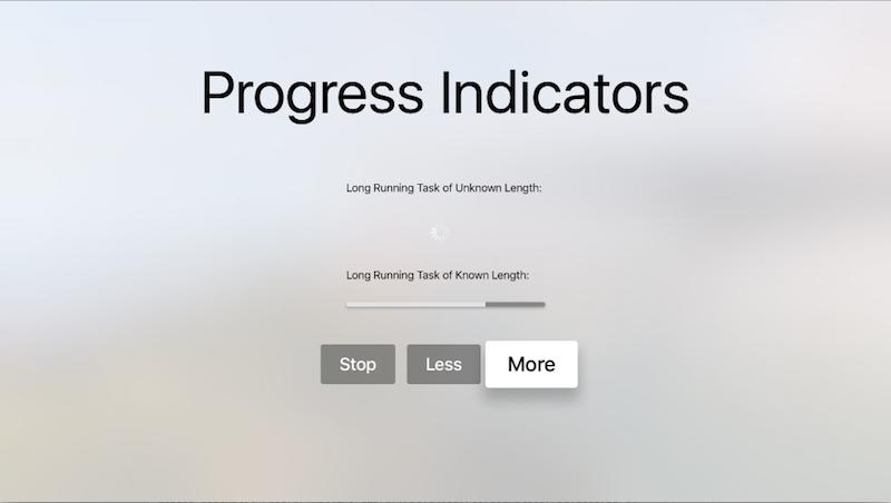Working with tvOS progress indicators in Xamarin - Xamarin