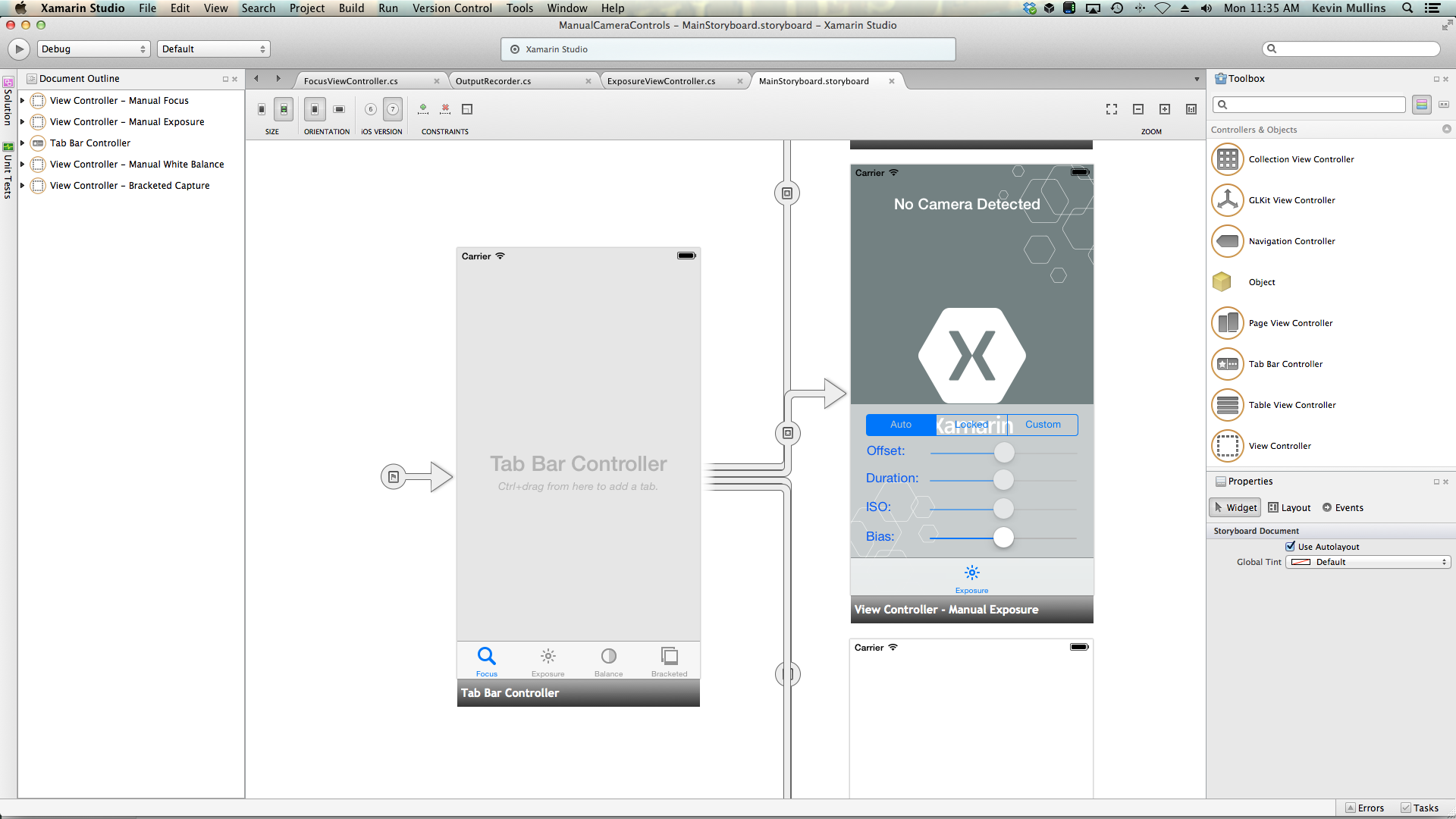 Camera Tutorial Block Diagrams Mono Tv Manual Controls In Xamarinios Xamarin Microsoft Docs The