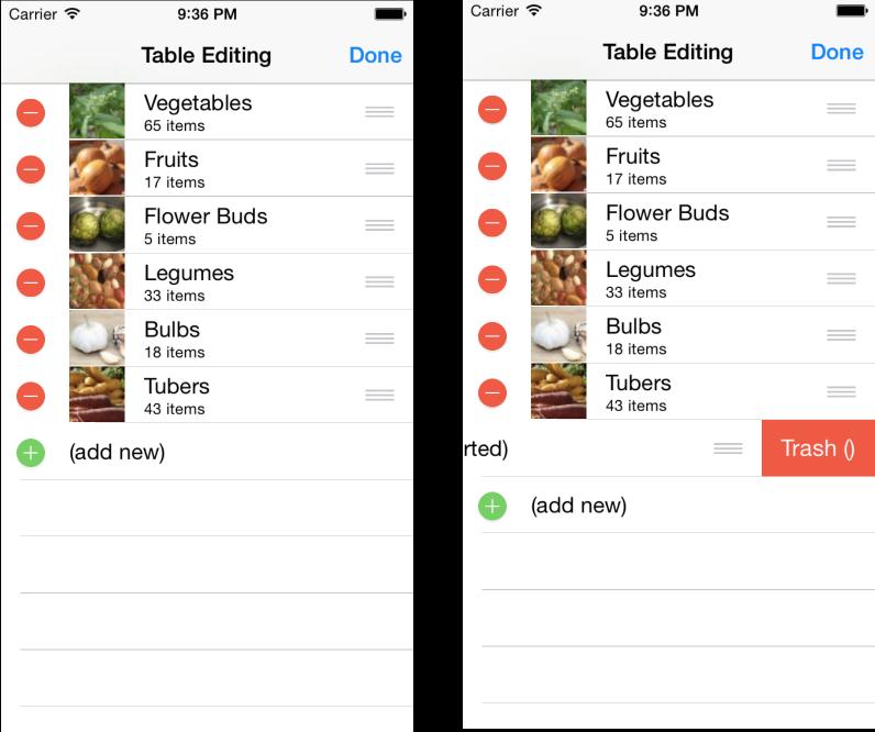 Editing Tables with Xamarin iOS - Xamarin   Microsoft Docs