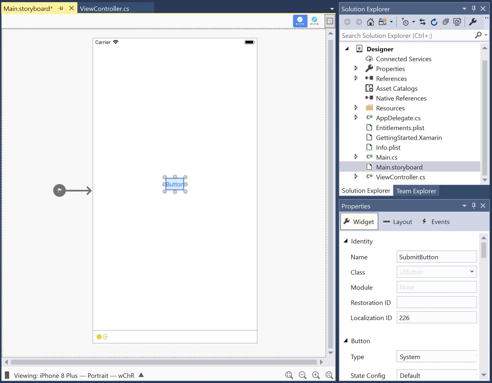 iOS Designer basics - Xamarin | Microsoft Docs