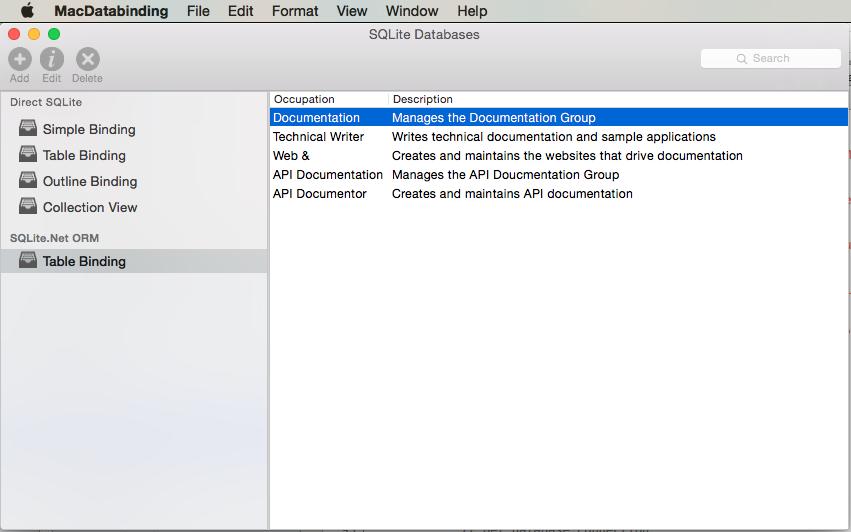 Databases in Xamarin Mac - Xamarin | Microsoft Docs