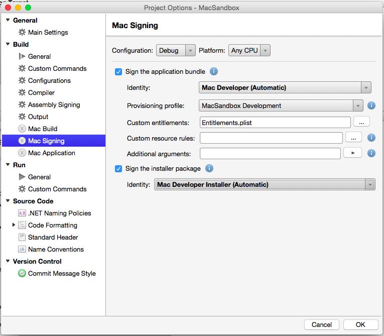 Sandboxing a Xamarin Mac app - Xamarin | Microsoft Docs