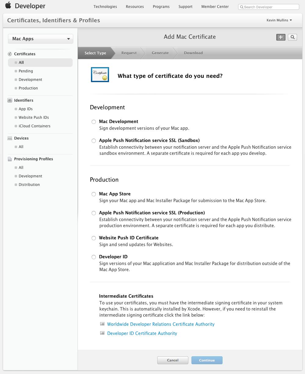 Certificates And Identifiers In Xamarinc Xamarin Microsoft Docs